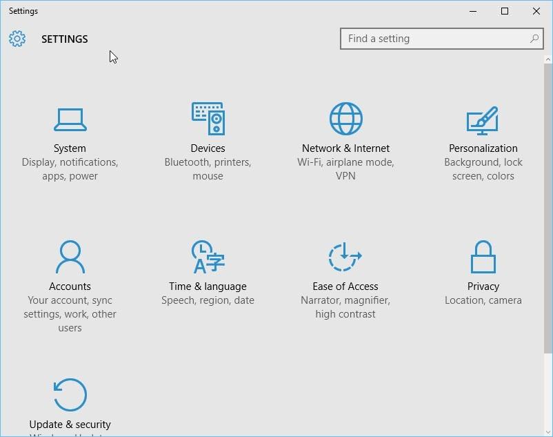 Menu Iniciar no Windows 10