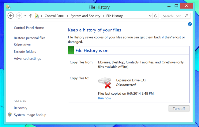 backup de sistema