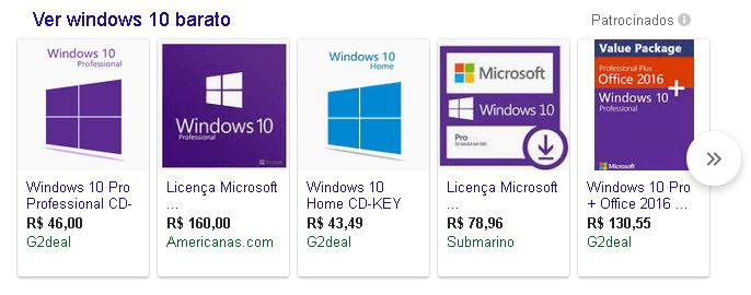 chave windows 10