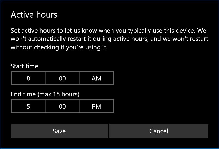 Controle quando o seu PC é atualizado com o Active Hours no Windows 10
