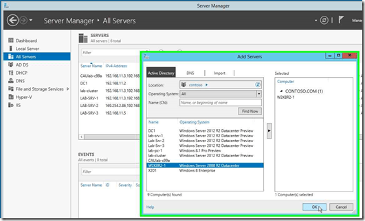 Gerenciando o Windows Server 2008 no Windows Server 2012 Server Manager