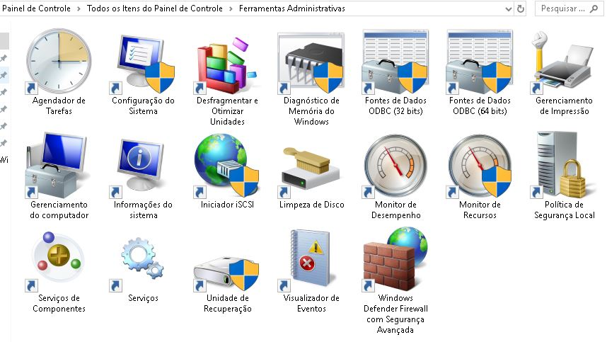 Ferramentas Administrativas do Windows
